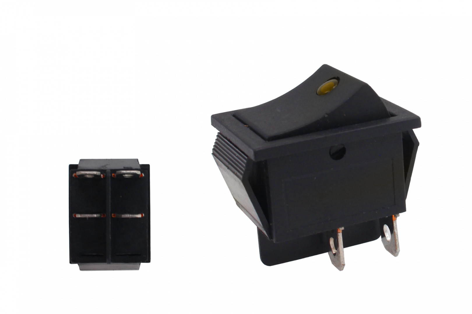 Włącznik rocker led 4 PIN Yellow - GRUBYGARAGE - Sklep Tuningowy